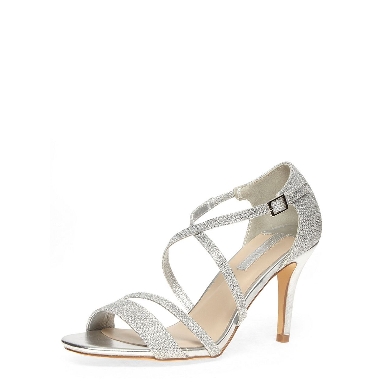 Women's sandals debenhams - Dorothy Perkins Silver Glitter Strappy Sandals At Debenhams Com