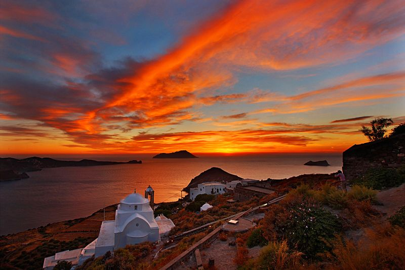 GREECE CHANNEL | Sunset over #Milos in #Cyclades, #Greece
