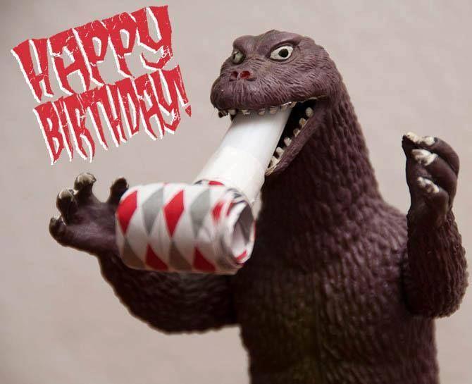 Happy Birthday From Godzilla Godzilla Birthday Party Ideas