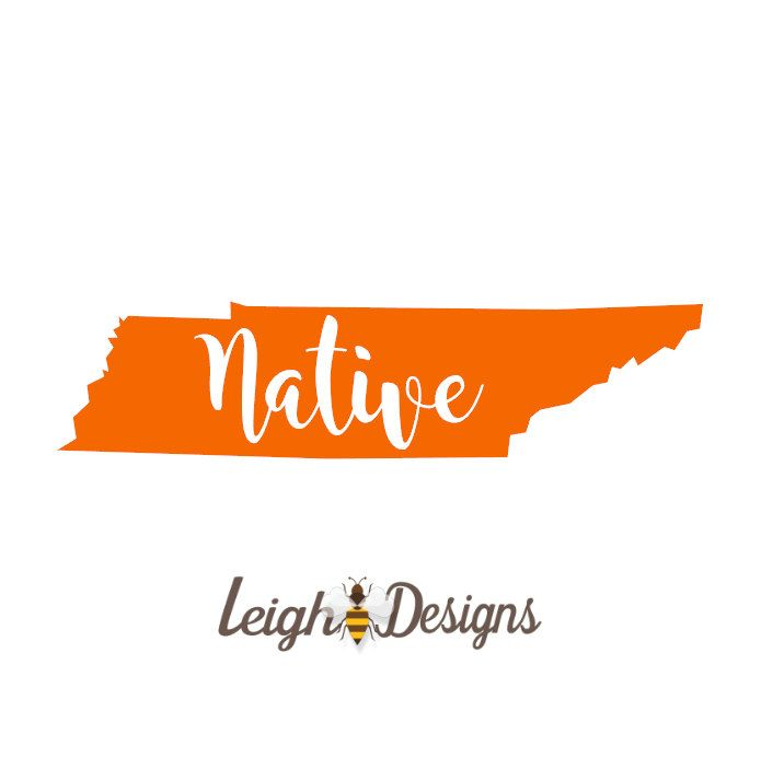 Tennessee native decal vinyl sticker yeti decal personalized decal tumbler tattos pinterest