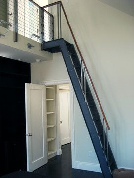 Staircase To Attic Design Ideas Pictures Remodel And Decor Modern Staircase Attic Remodel Staircase Design