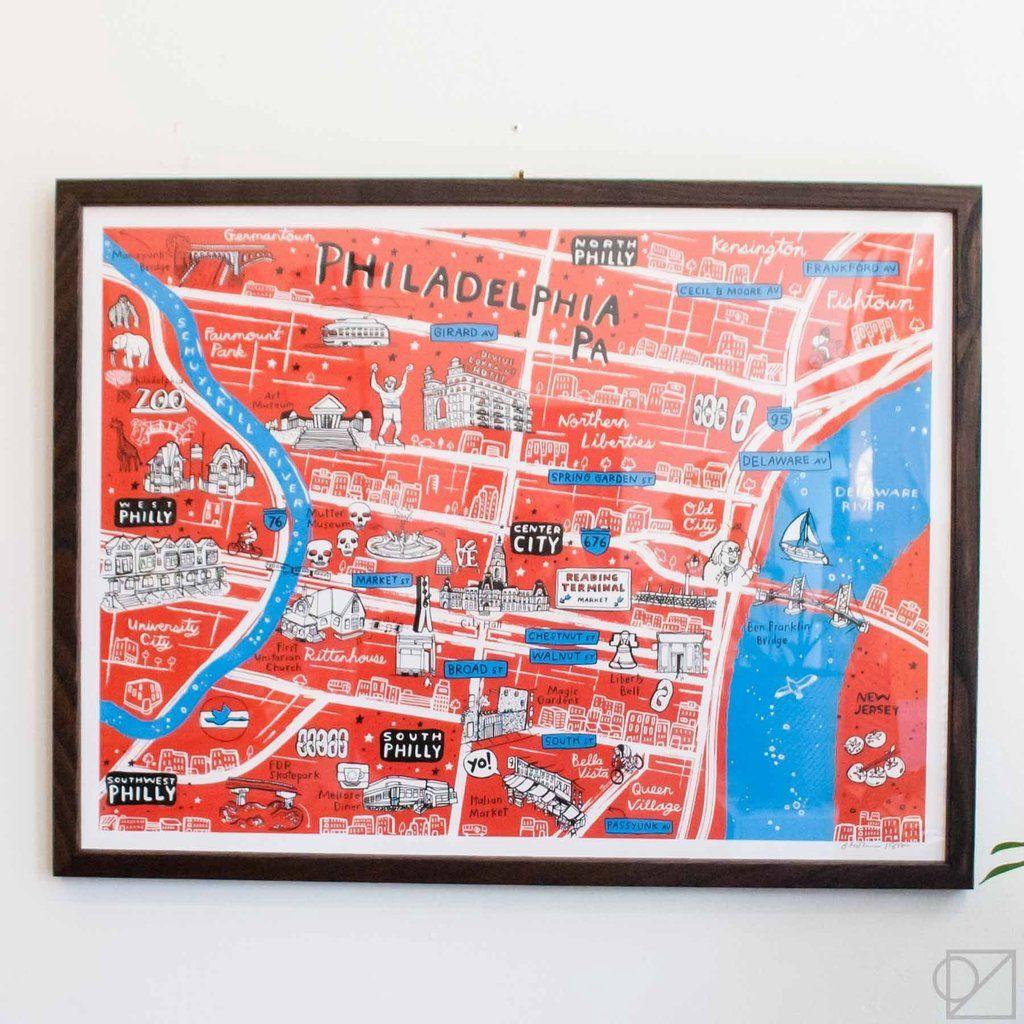 instorm x OZS Philadelphia Map | Silkscreen Print in 2019 ... on