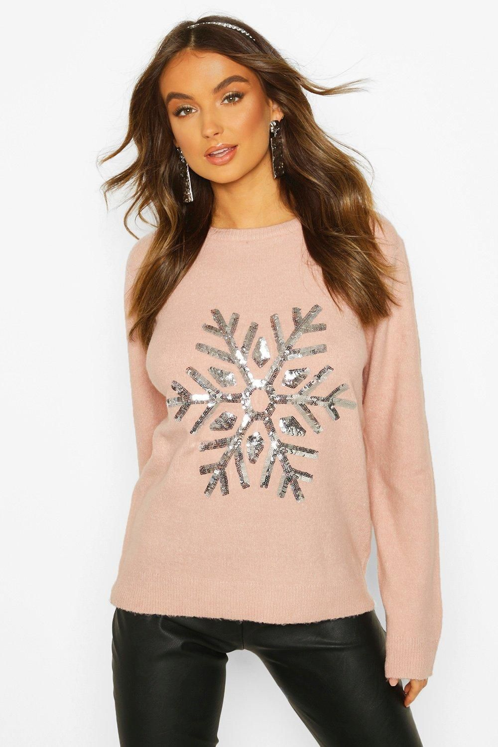 Snowflake Christmas Sweater boohoo in 2020 Christmas