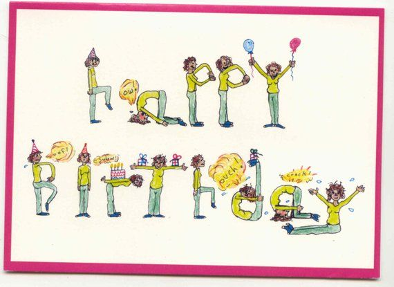 This Is A Birthday Card Perfect For Friends And Family Who Enjoy Yoga It Features Person Spelling Out Happy In Various Poses I Dont Think
