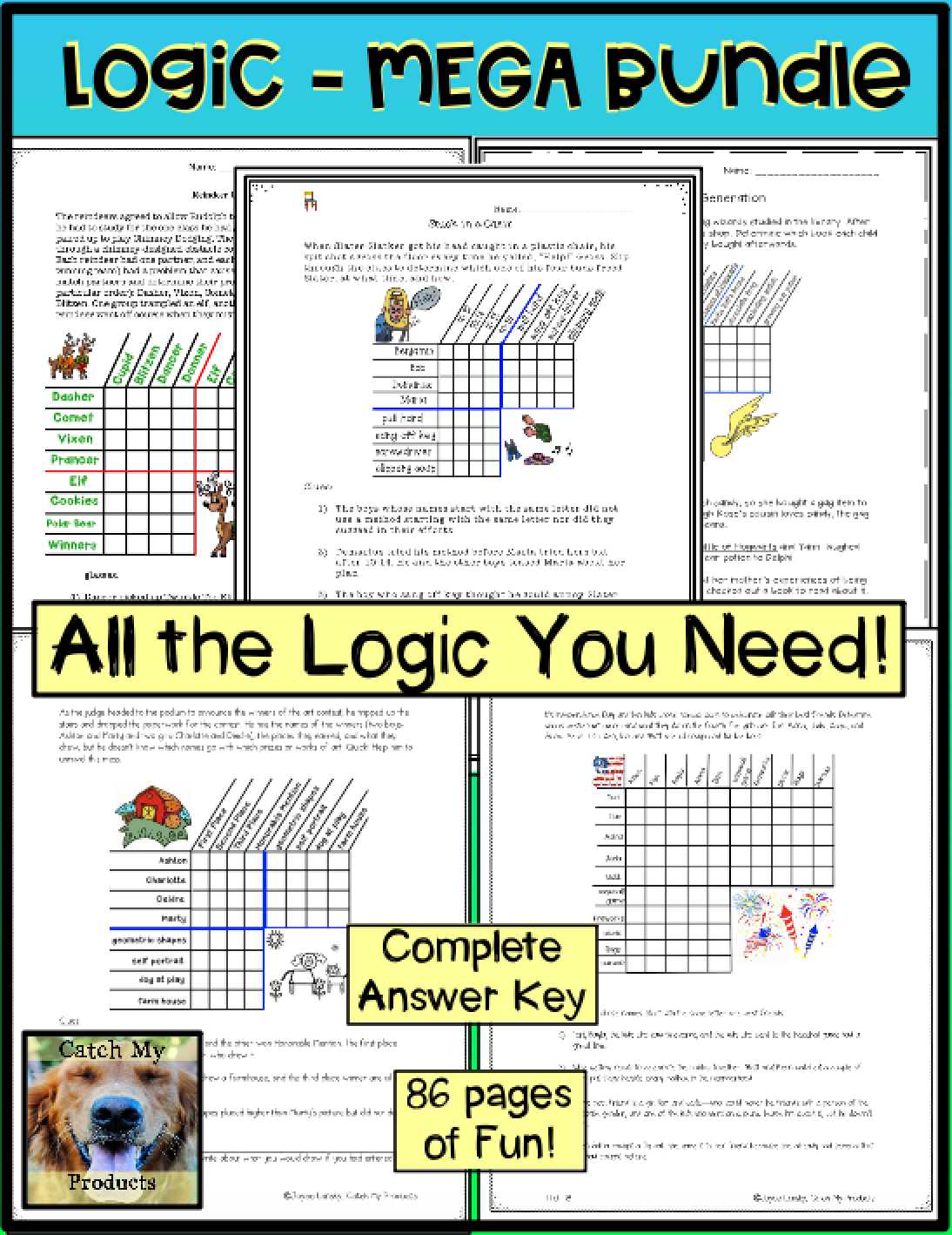 Logic Puzzles For 4th Grade Or 5th With Images