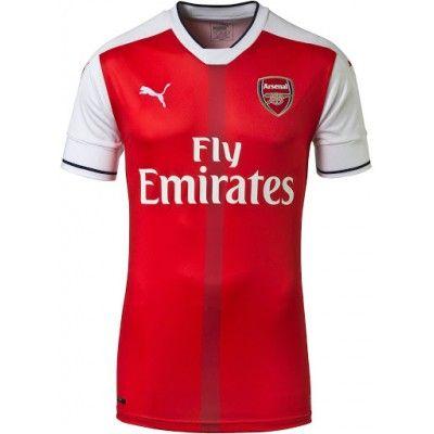 fe74b6687 Fotbalové Dres Arsenal 16-17 Domácí Krátký Rukáv s vlastním jménem  #Fotbalové #dresy