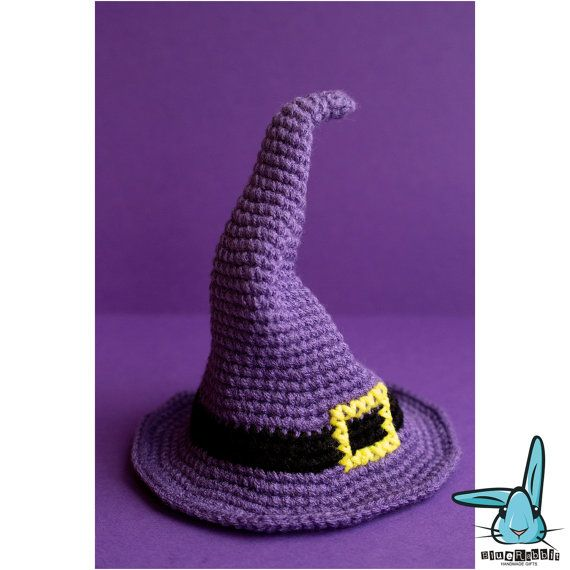 Classic purple witch hat. Amigurumi crochet pattern. Halloween ...