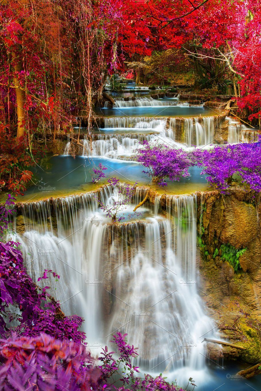 Waterfall Waterfall Beautiful Nature Wallpaper Beautiful Nature