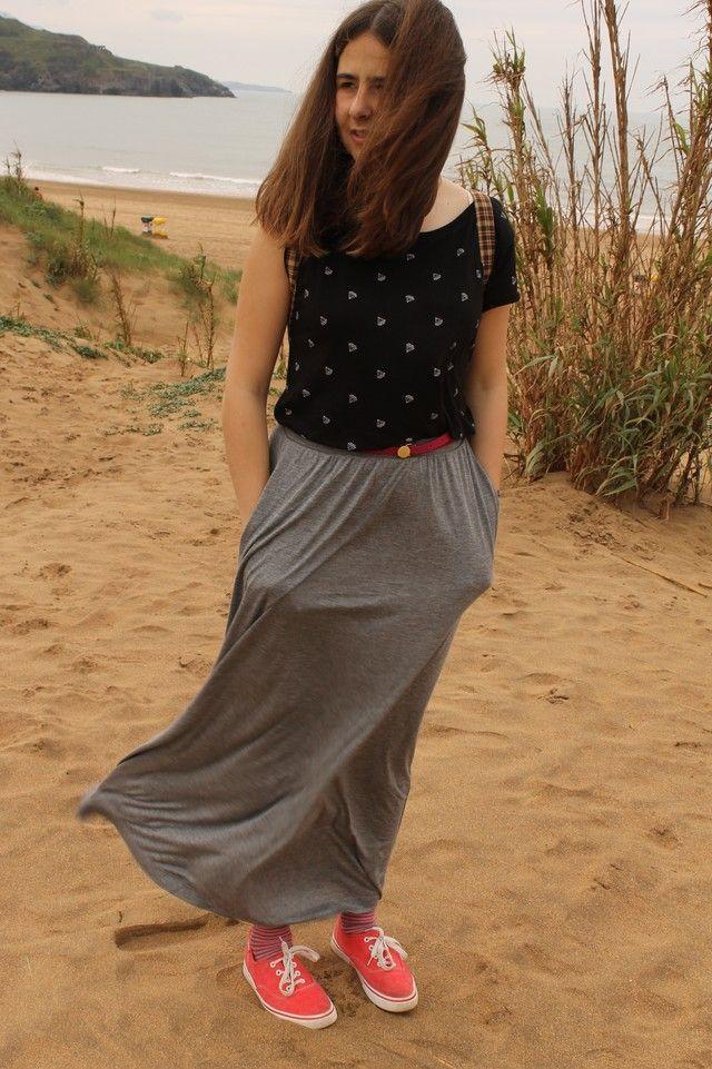 a1352b5e3 Looks con faldas largas gris (Todos) - Trendtation | Her Style ...