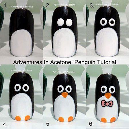 Penguin Nail Art Animal Pig Noel