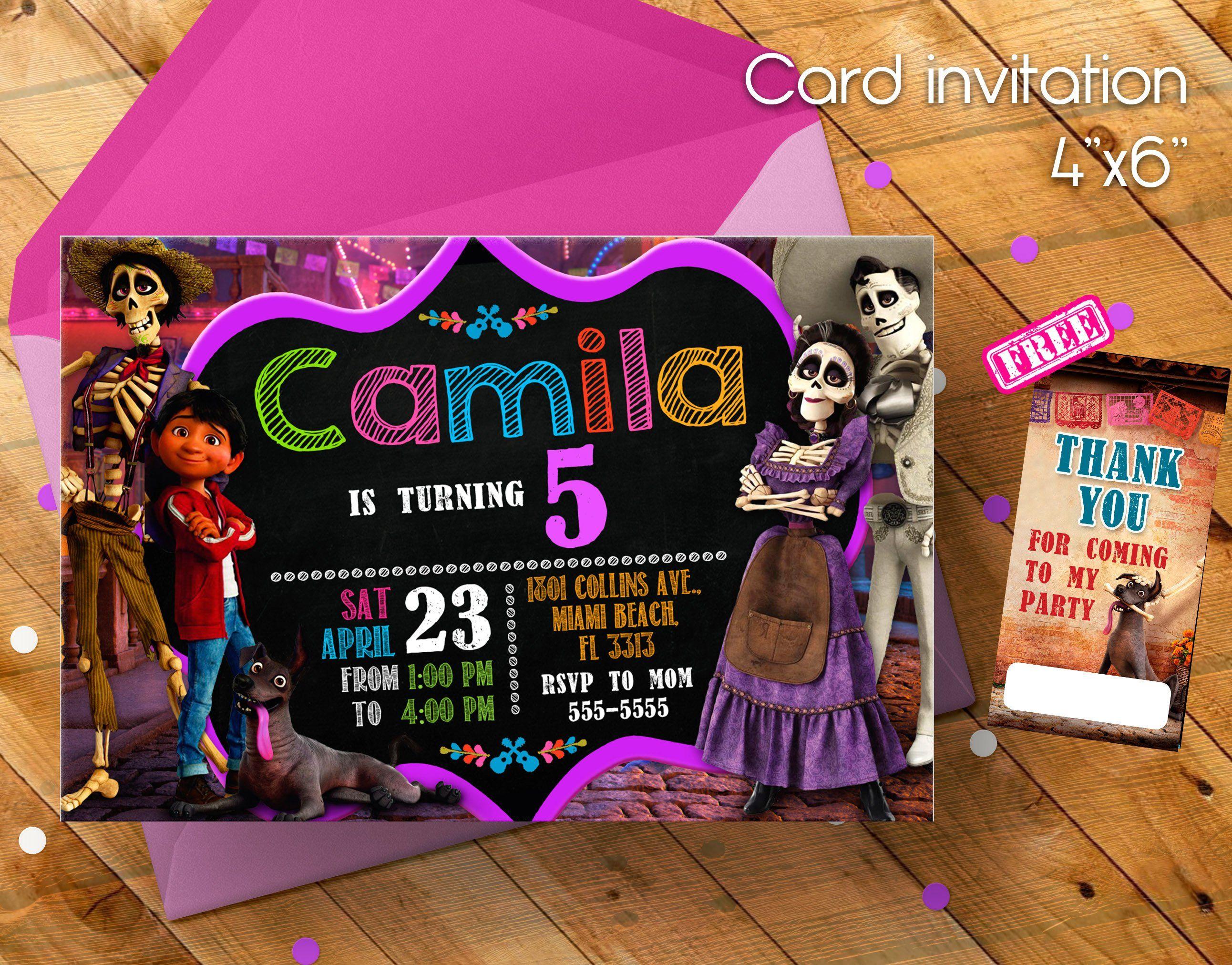 Coco Invitation Coco Movie Invitation Invitation Invitacion