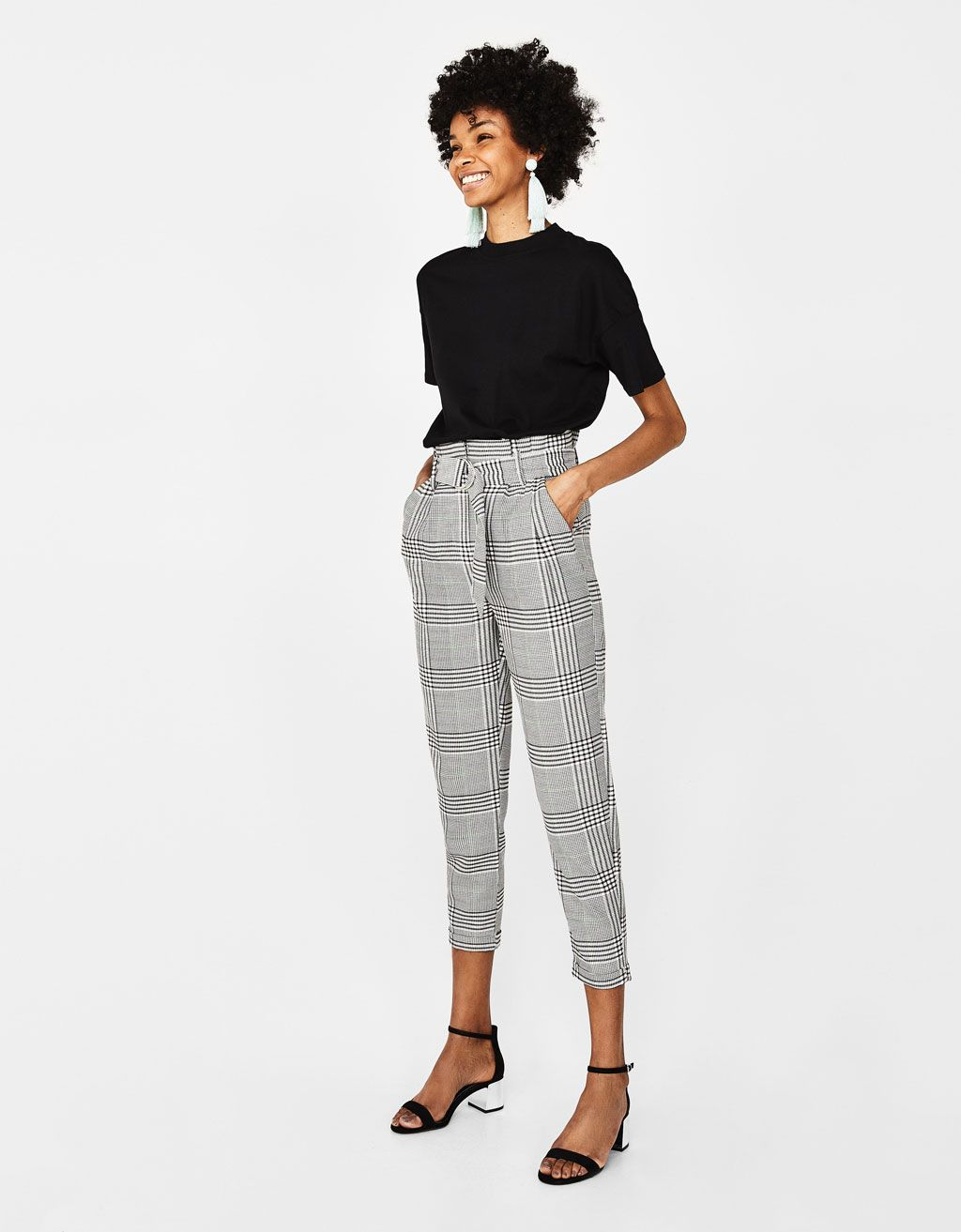 Checked Paper Bag Trousers Clothes Trouser Outfits Outfits
