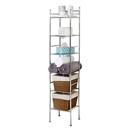 Over The Tank Bathroom Etagere Pewter In 2020 Bathroom Etagere