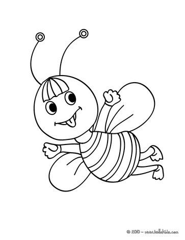 Kawaii Bee Coloring Page Cute And Amazing Farm Animals For Kids More Sheets On Hellokids