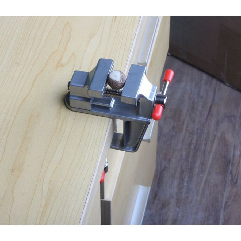 Table Vices Mini Clamp On Bench Vise Aluminium Alloy Small Bench Vice Power Tool Drill Clamp Diy Small Bench Power Tool Accessories Measuring Tools Woodworking