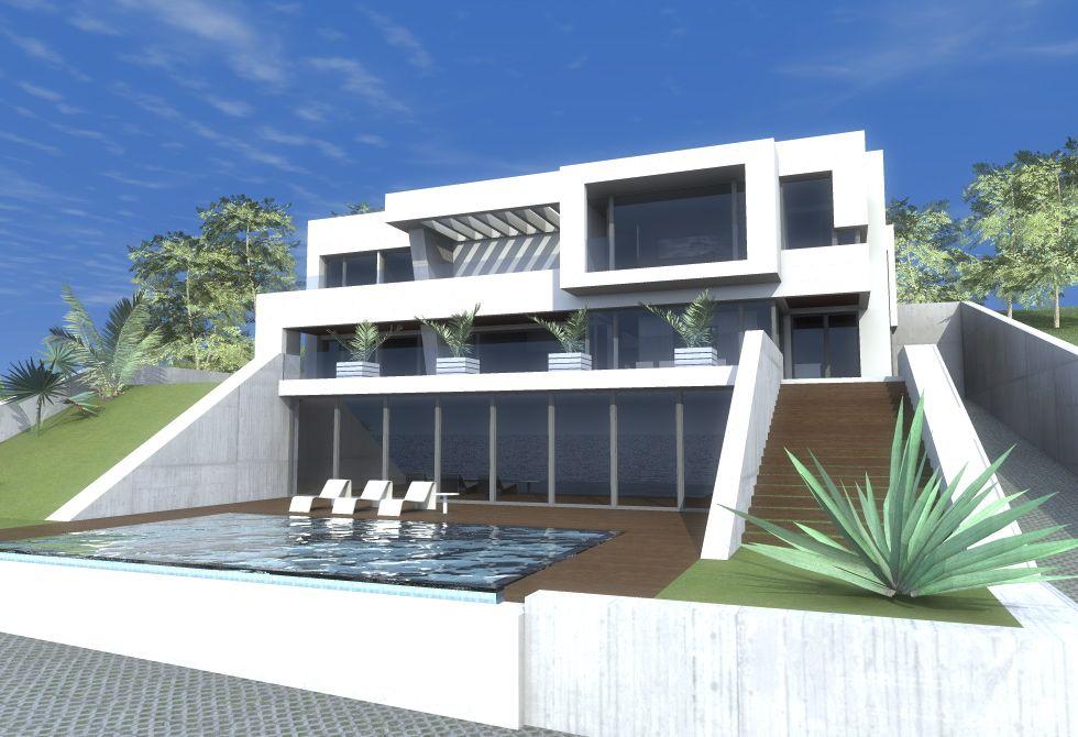 casas de exterior estilo moderno dise ado por element os