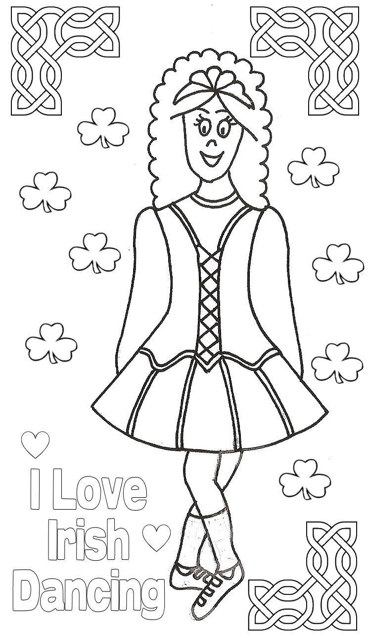 I Love Irish Dancing Colouring Page Cool Irish Dance Stuff In 2019