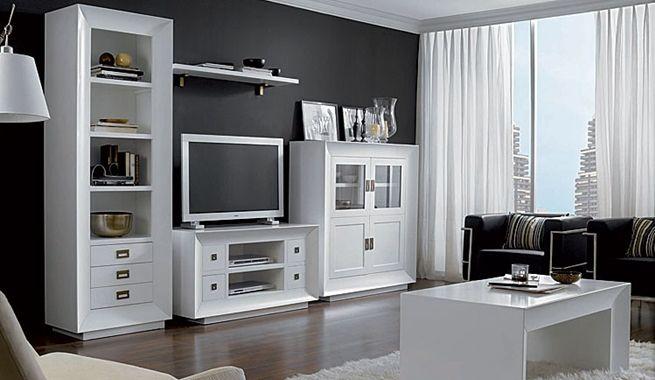 Moderna decoraci n colonial en blanco proyecto muebles y - Decoracion salon colonial ...