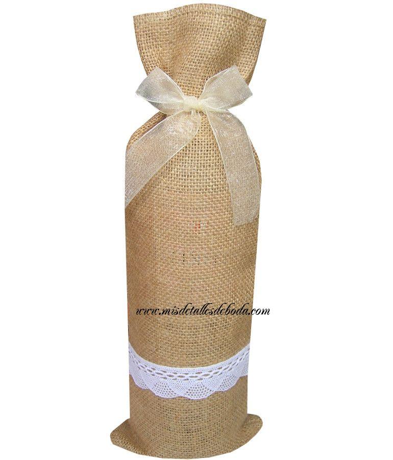 Bolsas para botellas de vino peque as bolsas de yute para - Botelleros de vino ...
