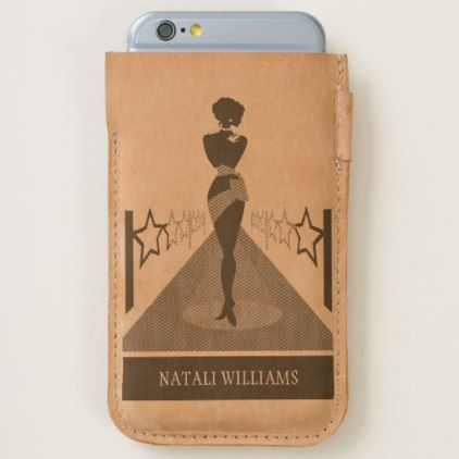 #personalize - #Woman silhouette on a red carpet with stars iPhone 6/6S case