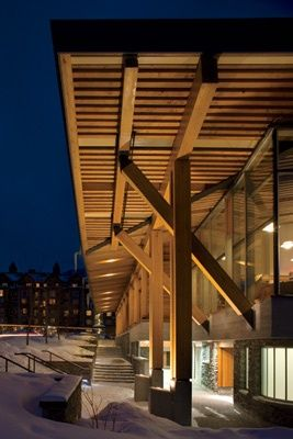 Attractive Whistler Public Library, In British Columbia.