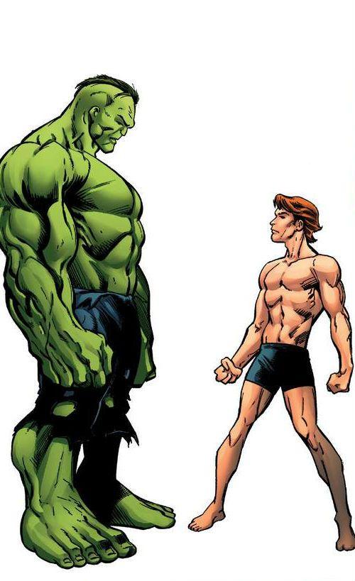 Doc Green (Dr. Bruce Banner) (Alternate Hulk persona) & Rick Jones ...