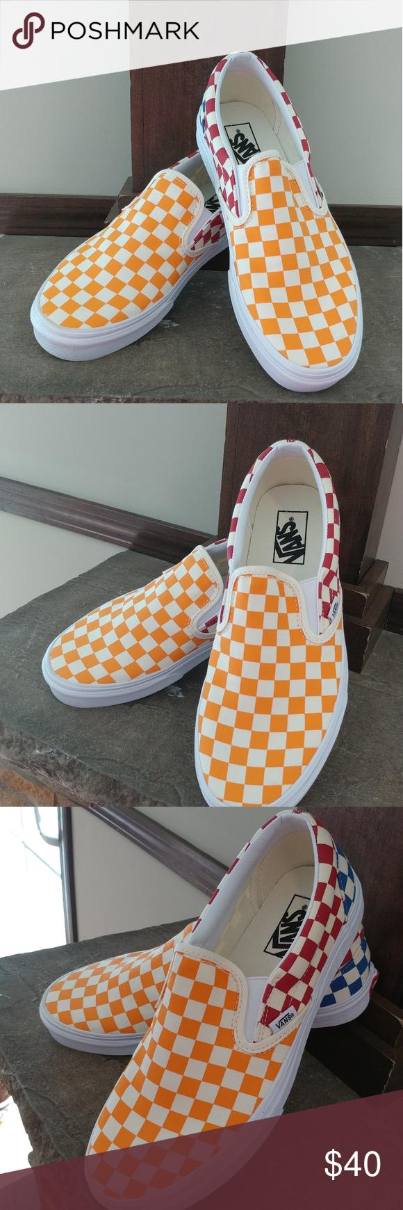 Vans Classic Slip On Checkerboard Multi In 2020 Vans Classic Slip On Slip On Vans Classic Slip On Sneaker