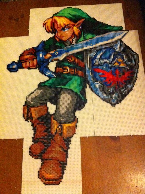 Large Link Zelda Hama Beads By Javico Hama Beads Perler
