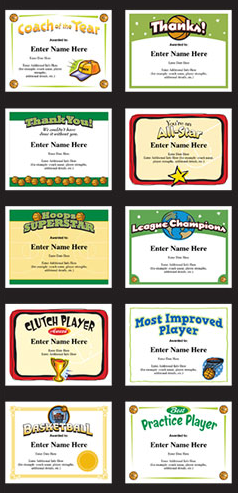 Basketball certificate templates at httpsportsfeelgoodstories award players team parents and coaches with these fun basketball certificate templates yelopaper Gallery