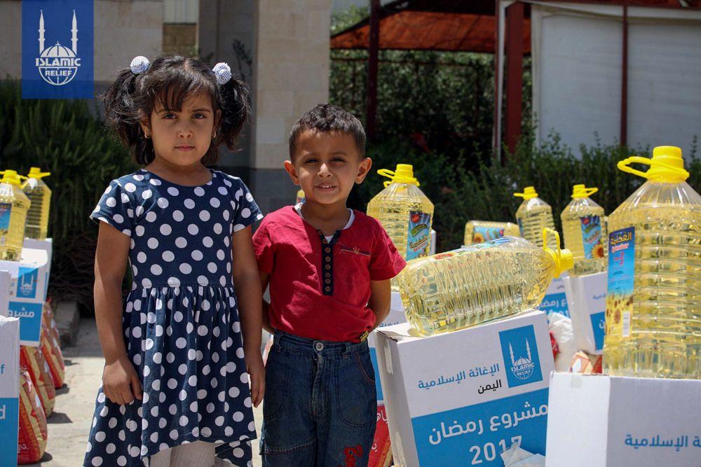 Two Children Next To Their Ramadan Food Parcel In Yemen Ramadan Recipes Ramadan Islamic Relief