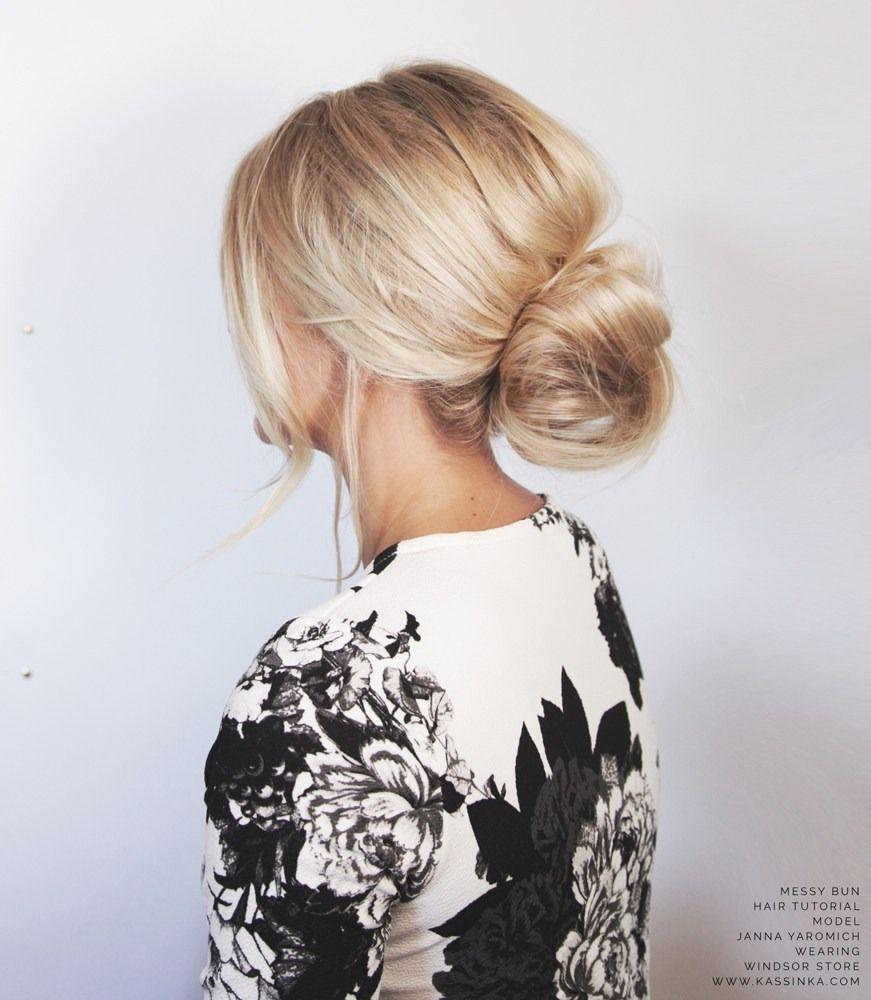 Hair tutorial: messy bun for short hair.   Hairstyle Inspiration ...