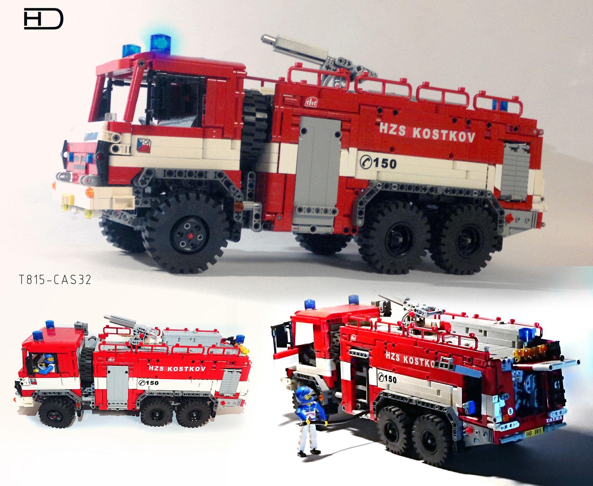 Tatra T815 Cas32 1 20 In 2020 Lego Technic Lego Fire Fire Trucks