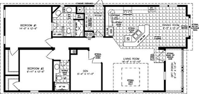 The Tnr B Manufactured Home Floor Plan Jacobsen Homes