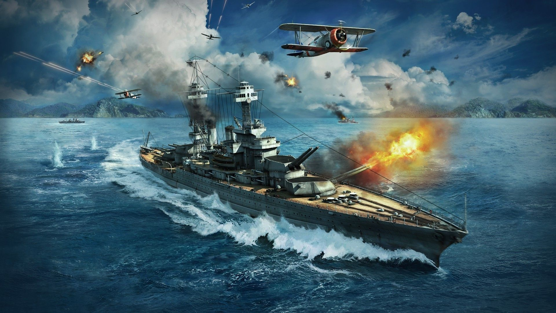 World Of Warships For Large Desktop 1920x1080 With Images