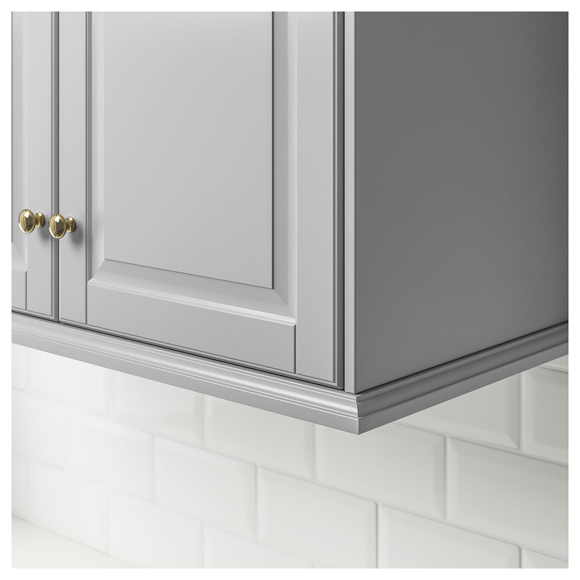 Kitchen Cabinet Cornice: IKEA - BODBYN Contoured Deco Strip/moulding Gray