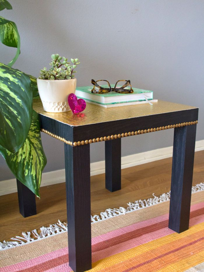 1001 Idees Originales Pour Une Table Relookee A Bas Prix Relooker Table Basse Ikea Customiser Table Customiser Table Basse Ikea