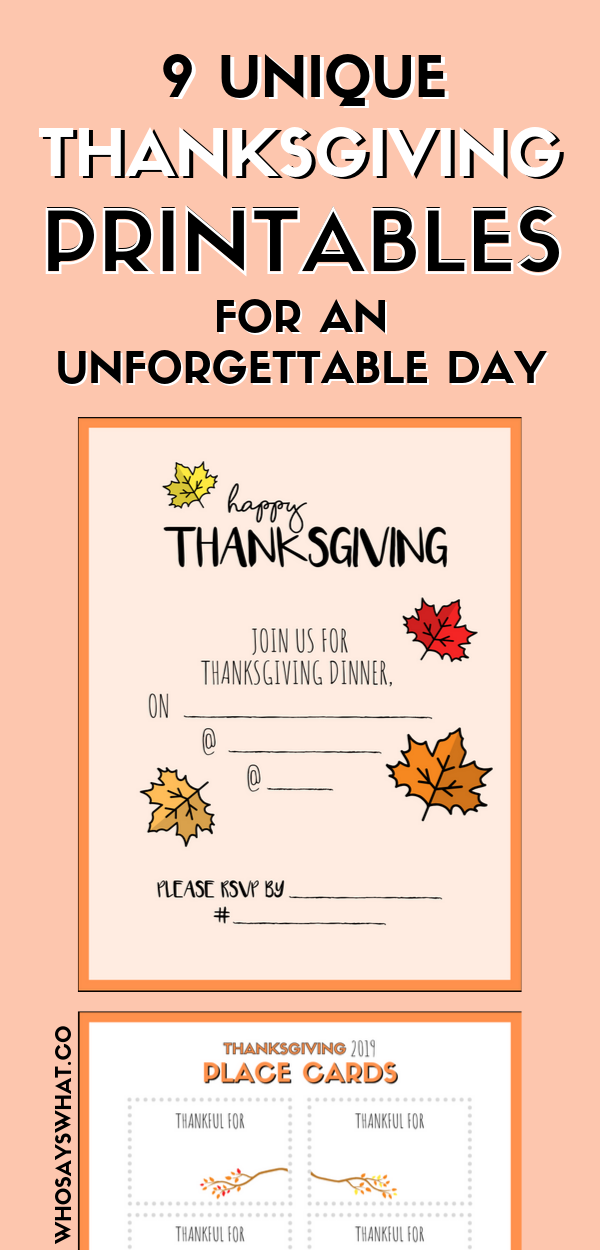 Shop Thanksgiving Printables Who Says What In 2020 Thanksgiving Planner Printables Thanksgiving Planner Life Planner Printables