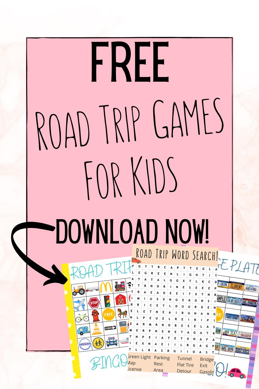 Free Printable Road Trip Games Kids Will Love Kids Road Trip Games Printable Road Trip Games Road Trip With Kids