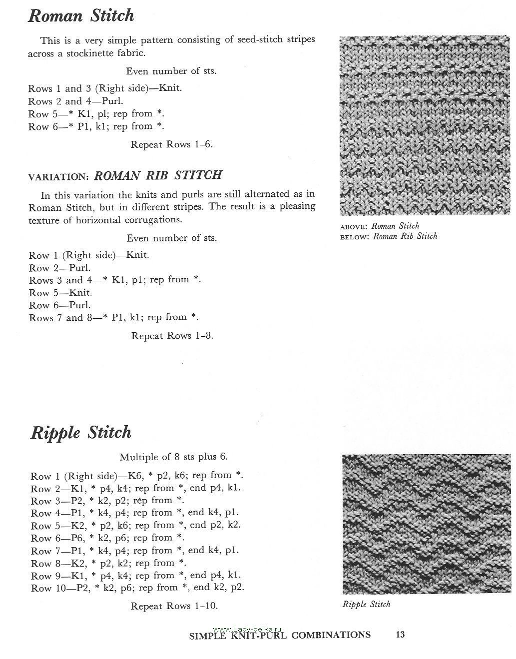 A treasury of knitting patterns   Barbara G. Walker   Pinterest ...