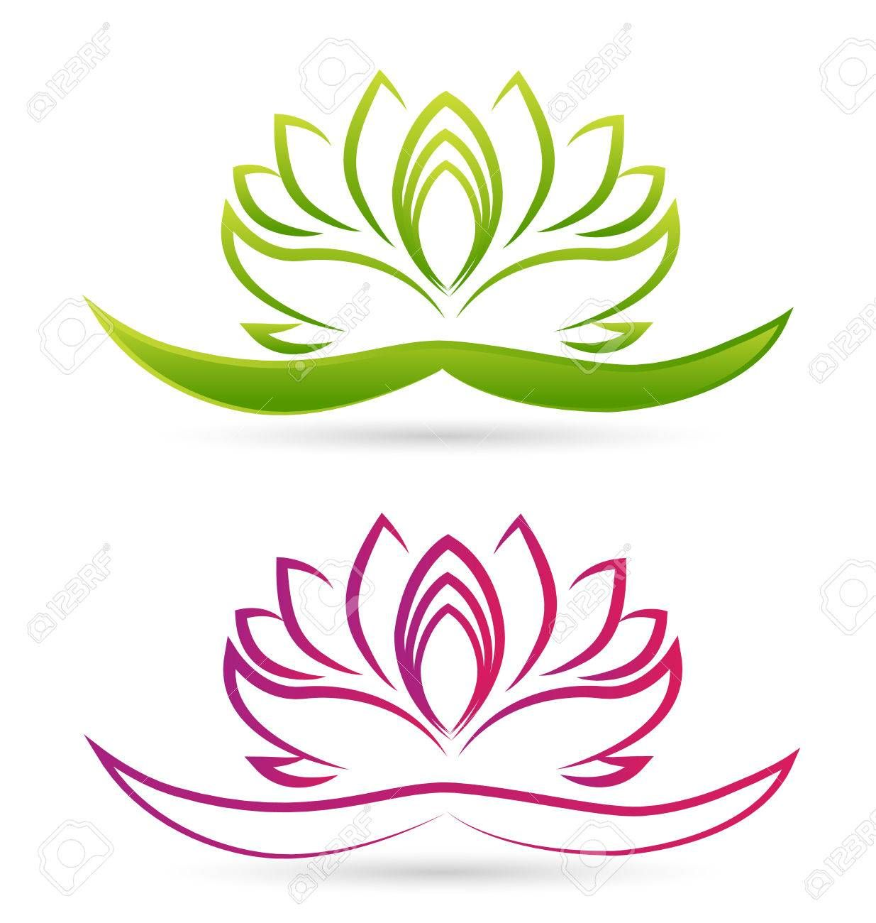 Stock Vector Lotus art, Lotus vector, Lotus flower