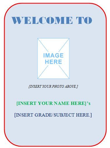 Sample Classroom WallDoor Sign Template Not Only Welcomes But Also - Door sign template