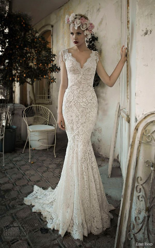 Lihi Hod Spring 2014 Wedding Dresses Bijoux Bridal Collection Wedding Inspirasi Vintage Inspired Wedding Dresses Lihi Hod Wedding Dress Wedding Dresses Lace
