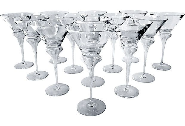 Czech Crystal Martini Glasses