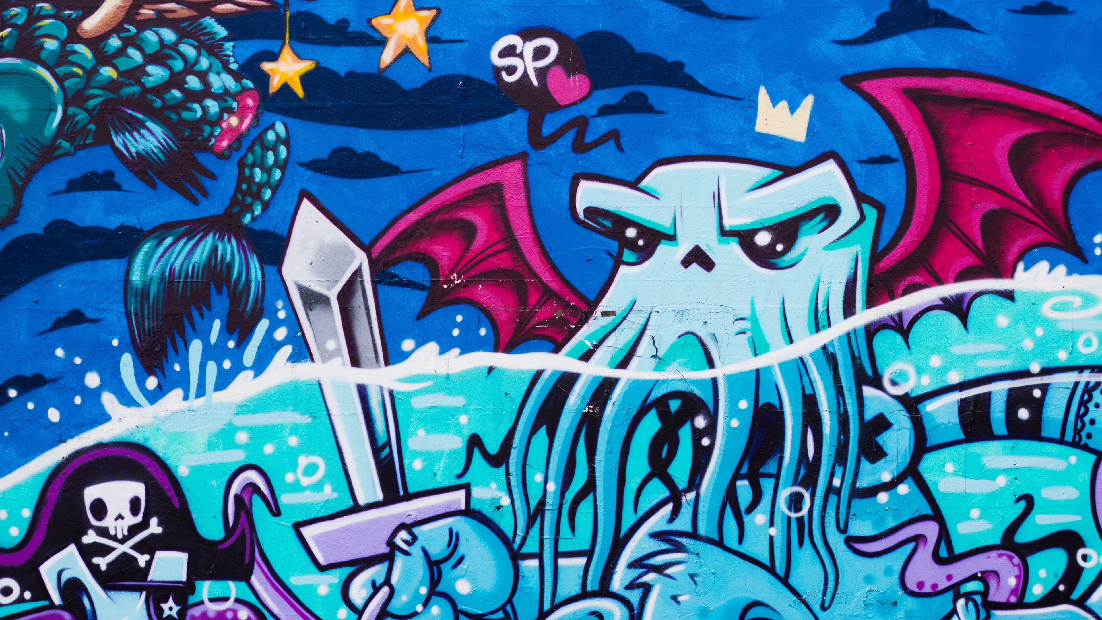 Graffiti Octopus Street Art 4k Street Art Octopus Graffiti In 2021 Graffiti Graffiti Wallpaper Street Art