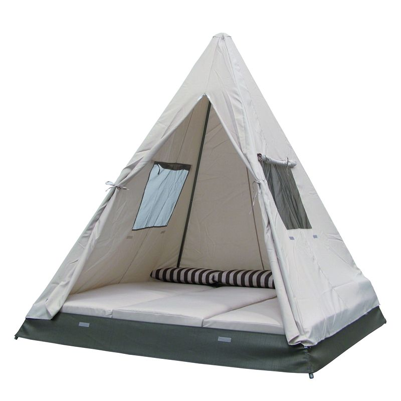 Mimosa Tee Pee Day Bed I N 3191372 Bunnings Warehouse Make It Orange To Look Like A Cone Cozy Cone Motel Teepee Diy Bed Frame Daybed