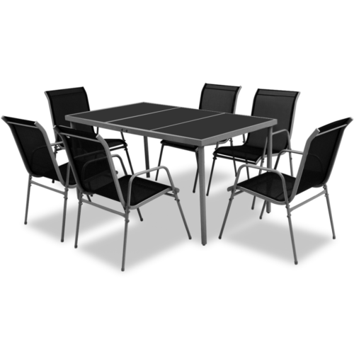 7 Tlg Gartenmobel Set Essgruppe Sitzgruppe Sitzgarnitur Gartenset