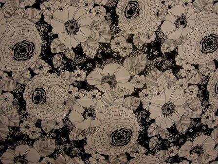 P Kaufmann Fox Trot Black Fabric
