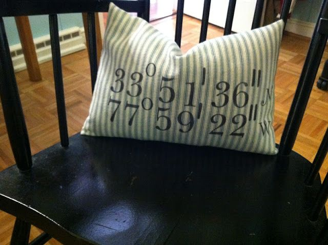Lucy's Lampshade: Longitude and Latitude Pillow