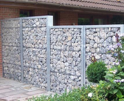 Sichtschutz Ideen aus Stein, Holz und Stoff