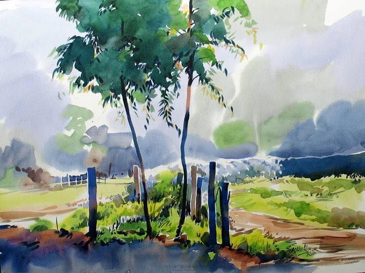 World Watercolor Month Gallery In 2020 Watercolor Landscape